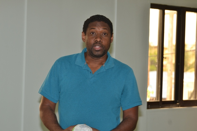 Dr. Anthony Cummings, a Guyanese professor based in the United States of America studying Guyana's rainforest eco-system.