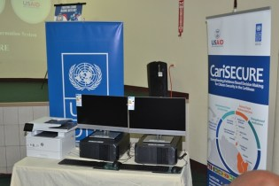 Equipment presented to the Guyana Police Force for its (PRMIS) project.