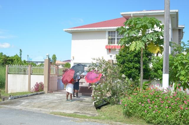 GECOM staff conducting House-to-House Registration