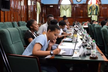 Participants in the 2018 Youth Parliament