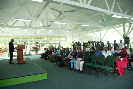 His Excellency, President David Granger addressing Private Sector and Civil Society stakeholders
