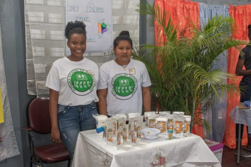 The girl looking to put Orealla on the map for Agro-processing, Dawn Daw [right].