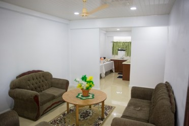 The living area at the Hinterland Student Dormitory.