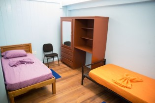 One of the rooms inside the Hinterland Student Dormitory.
