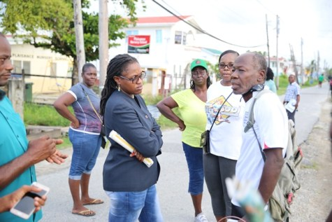 Scenes from Minister of Public Service, Tabitha Sarabo-Halley's walkabout in the community.