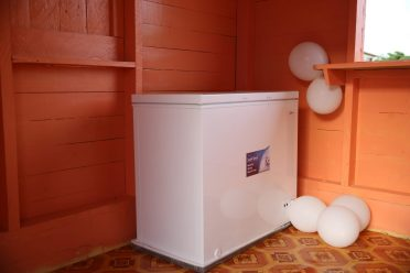The freezer purchased for the meat centre