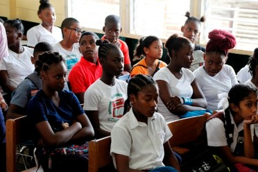 Some of the students participating in the Transition Camp