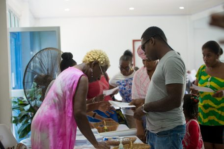 Persons signing up to the newly formed Credit Union on Saturday morning at the Critchlow Labor College