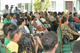 Attendees at the Ministry of Natural Resources, Youth in Natural Resources Programme.
