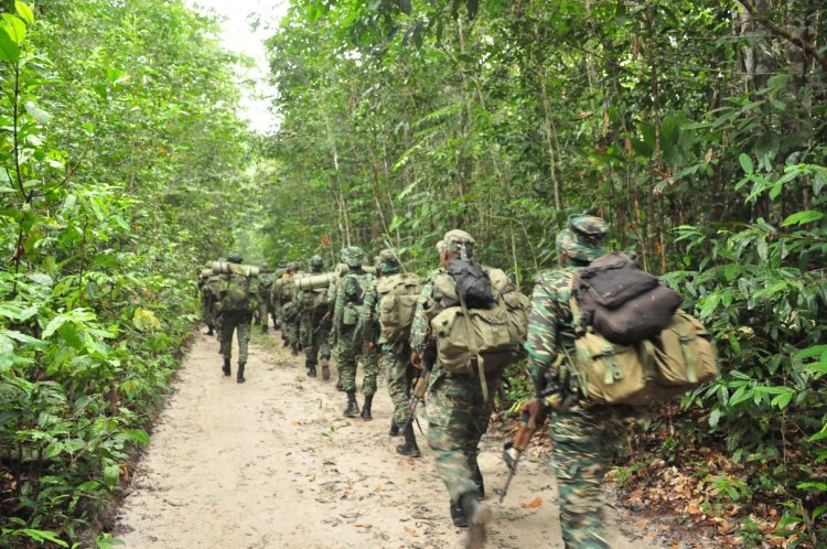 Caption for all photos: The Guyana Defence Force (GDF) during its 'Exercise Greenheart' operation.