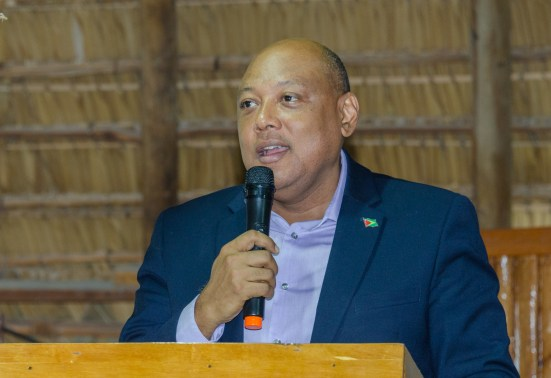 Minister of Natural Resources, Hon. Raphael Trotman gives the opening remarks