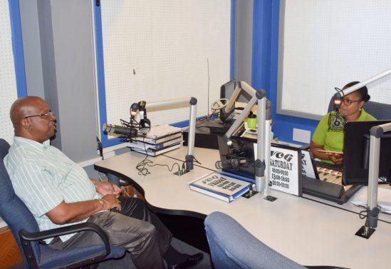 Minister of Finance, Hon. Winston Jordan on NCN's 'INSIGHT' Radio Programme on VOG.