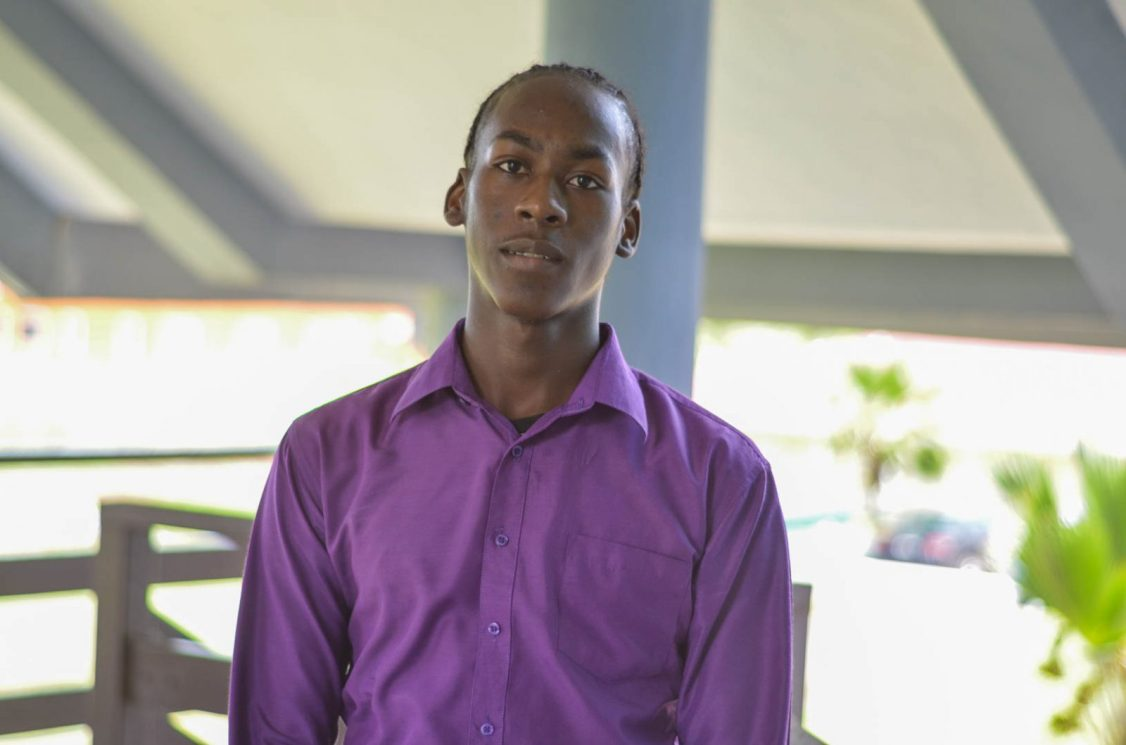 Fifteen-year- old Simeon Jonas, one of the top students of the level one course