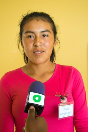 Youth participant from Kurukabaru, Doris Francisco