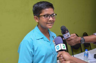 Top Student for Region 3, Shrirish Persaud