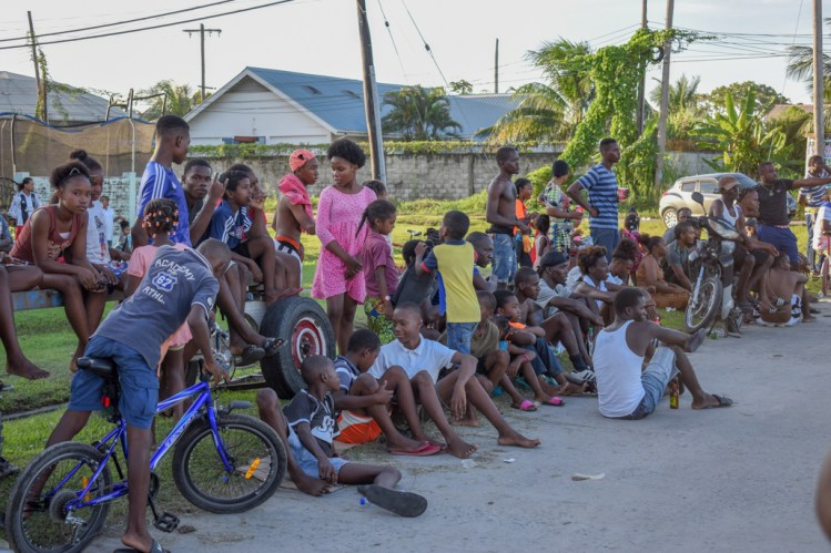 A section of the youths gathered to witness the football tournament