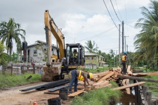 Ongoing infrastructural works in the Sophia community.