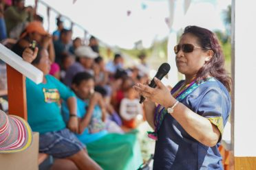 Minister of State, Hon. Dawn Hastings-Williams interacting with Jawalla residents in Region 7
