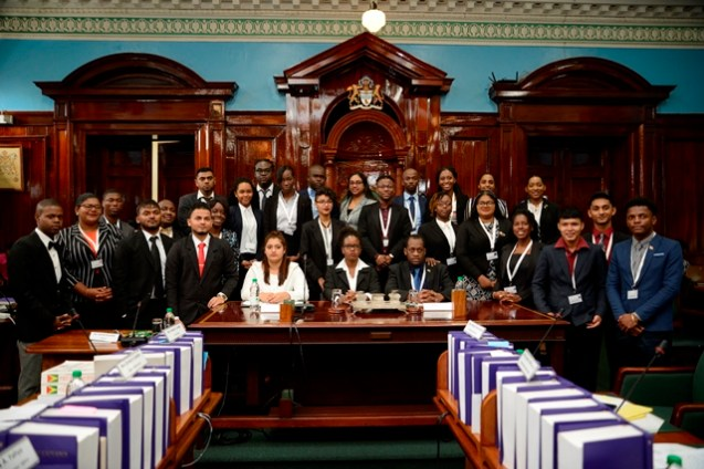 Participants of the 2nd sitting of the 5th Youth Parliament.