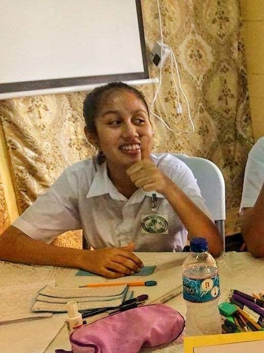 A happy Riana Toney who emerged as the top student of this year's Caribbean Secondary Examination Certificate (CSEC).