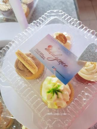 Packaged specialty cupcakes from Indulgence Specialty