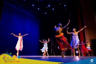 """Scenes from Guyana's """"Decades of Dance"""" choreographed by Vivienne Daniels at the Queens Hall theatre in Trinidad for CARIFESTA XIV's Dance Showcase."""