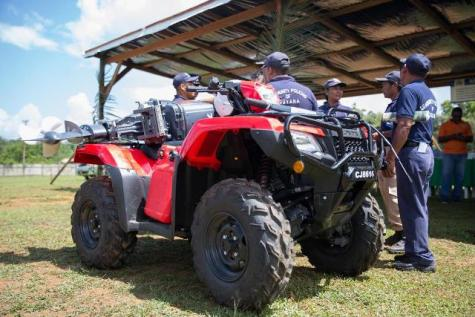 New ATV and boat engine for the Port Kaituma Community Policing Group.