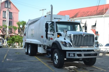 New $45M garbage truck donated to Mayor and City Council.