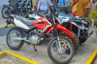 The ATV and motorcycle that will assist with patrols.