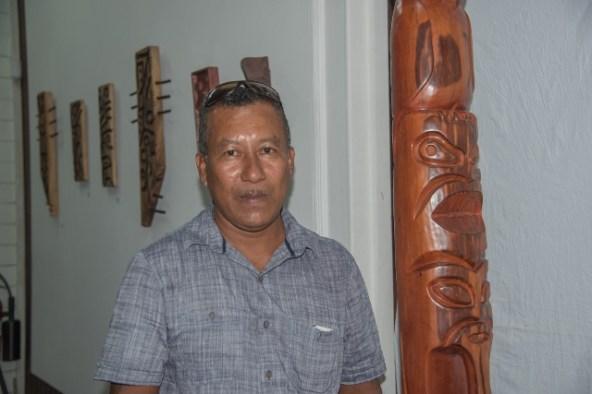 Indigenous sculptor, Roland Taylor.