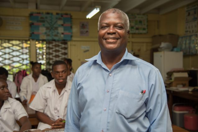 Science Teacher of the Brickdam Secondary School, Ansel Wilson