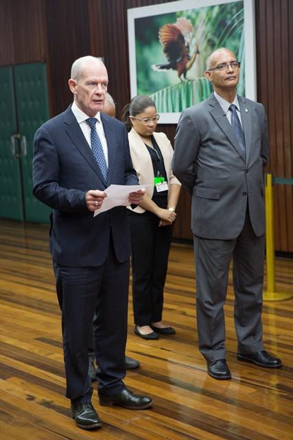 Non-Resident Ambassador (Designate) of Ireland to Guyana, H.E Seán Hoy.