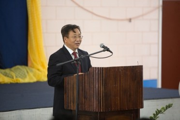 Ambassador of the People's Republic of China to Guyana His Excellency Cui Jaichun.