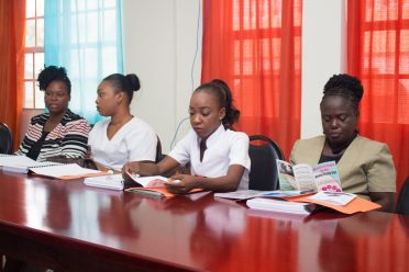 Some of the participants in the training