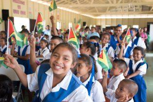 Students of Kamarang Primary School