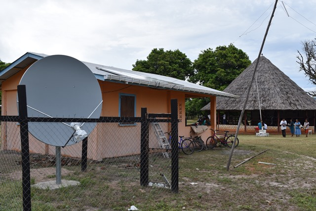 The internet connection at the Massara Village office