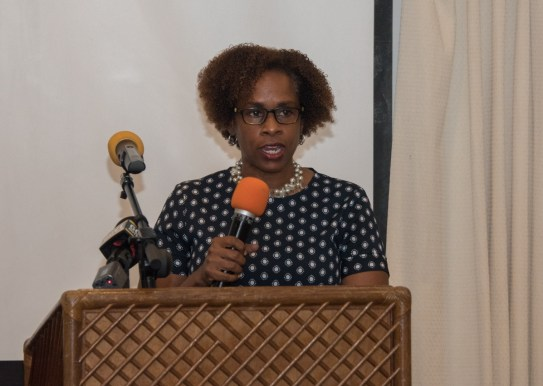 Country Representative of the Food and Agriculture Organization of the United Nations, Gillian Smith during her speech