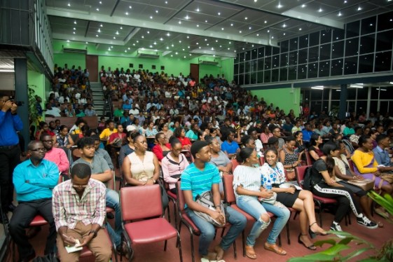 Orientation of first year students at the University of Guyana (UG).