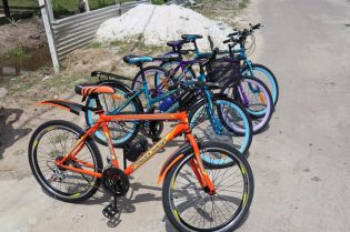 The bicycles donated by Peter Lewis