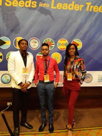 Picture of Team Members from Left: Mr. Jahleel Young, center Mr. Hamraj Narine (Team Leader) and right Ms. Romichelle Brumell