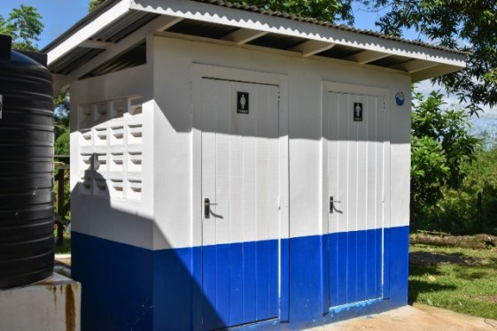 The new sanitary block at the Mabaruma, Barima-Waini, Post Office which was commissioned by Minister of Social Protection, Hon. Amna Ally, on Saturday.