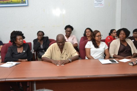 Ministry of Agriculture officials at presentations.