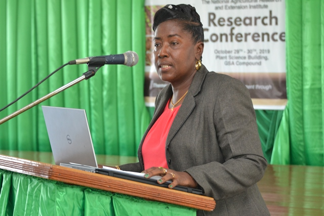 Minister within the Ministry of Agriculture, with responsibility for Rural Affairs, Hon. Valerie Adams-Yearwood.