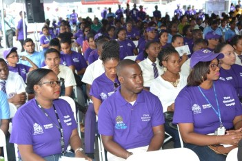 A section of the audience at the launching on Thursday.