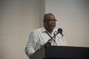 Derick Cummings, Permanent Secretary of the Ministry of Public Telecommunications.
