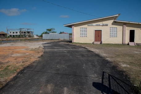 Ongoing rehabilitation to one of the roads that leads to the Victoria community ground.