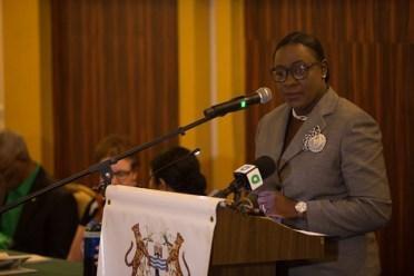 Minister of Education, Hon. Dr. Nicolette Henry.