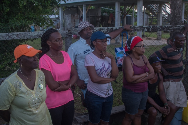 A section of residents at the meeting.