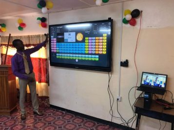 Some of the smart classrooms established in Guyana.