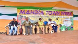 [In the photo, from left to right] Deputy-Mayor of Mahdia, Juewayne Burrowes, Mahdia's Mayor David Adams, Minister of Public Health, Hon. Volda Lawrence and Regional Chairman Potaro-Siparuni Bonaventure Fredericks.